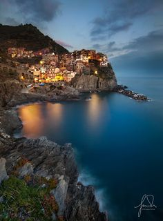 Photograph Good Evening Manarola by Giorgio Pirola on Places Around The World, Around The Worlds, Beautiful Places, Beautiful Pictures, Southern Europe, Parc National, Paris, Maldives, Landscape Photography