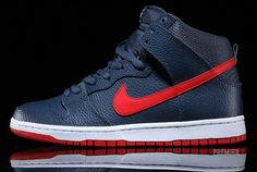 Nike SB Dunk High – Squadron Blue – University Red
