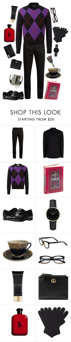 """""""Xander-Fire Emblem"""" by conquistadorofsorts ❤ liked on Polyvore featuring Yves Saint Laurent, Topman, AMI, Emporio Armani, ROSEFIELD, Bobbi Brown Cosmetics, Bulgari, Gucci and Polo Ralph Lauren"""
