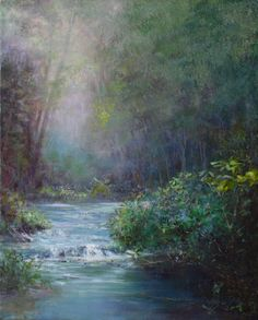 """One of my original Oil Paintings, titled, """"Healing Water"""" Oil Paintings, Landscapes, Healing, Artists, Art, Paisajes, Scenery, Artist, Therapy"""