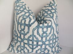 20x20/22x22 Pillow Covers, Blue and White Pillow Covers, Decorative Pillow, Geometric Pillow