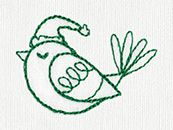 Christmas Cheer - Bird | Urban Threads: Unique and Awesome Embroidery Designs