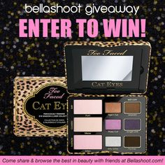Enter to win this Too Faced Cat Eyes Palette! - ends 8/13/14 - #giveaway #toofaced #cateyes #eyemakeup #eyeshadow - bellashoot.com