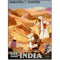 Trademark Fine Art See India Canvas Art by Vintage Apple Collection, Size: 16 x 24, Multicolor