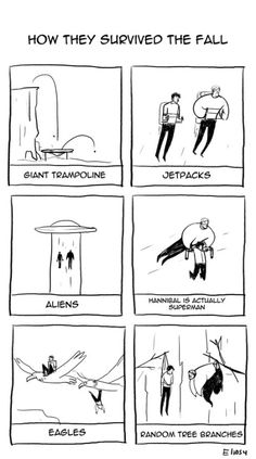Theories on how they survived the fall.