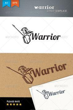 Warrior Logo Design Template Vector #logotype Download it here: http://graphicriver.net/item/warrior-logo-template/6176395?s_rank=526?ref=nexion