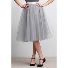 Karinska Tulle Skirt ($100-200) ❤ liked on Polyvore