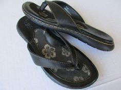 Born Concept women sandals sz 7 Black Thong #Brn #Slides #Casual