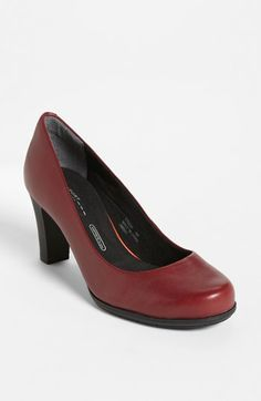 #Rockport 'Total Motion' Pump, now available at #Nordstrom! Available in black, coach, fossil, and red! #ComfortableHeels