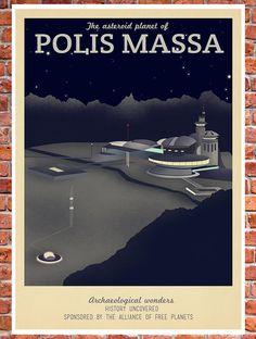 Retro Travel Poster Star Wars Polis Massa by TeacupPiranha