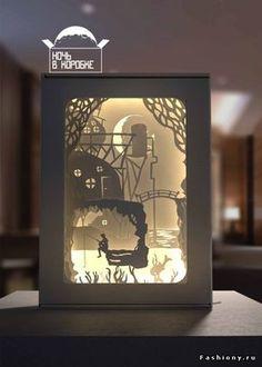 DIY Мастер-класс: Световая картина своими руками