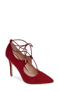 Free shipping and returns on Charles by Charles David Pierogi Lace Up Pump (Women) at Nordstrom.com. A pointy-toe pump exudes uptown sophistication in lush suede with ghillie straps that crisscross along the vamp and around the ankle for dramatic effect.
