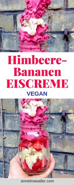 If you are an ice cream lover you should truly check out this healthy, easy and super delicious nicecream. You just need 2 ingredients. Vegan Society, Vegan Ice Cream, Nice Cream, 2 Ingredients, Ice Cream Recipes, Soul Food, Raspberry, Vegan Recipes, Nutrition