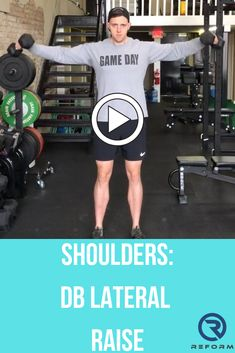 See how we integrate these into our programs at reformedathletes.com/reform-xclusive Shoulder Exercises, Shoulder Workout, Lateral Raises, Raising, Sporty, Day, Style, Swag, Shoulder Training