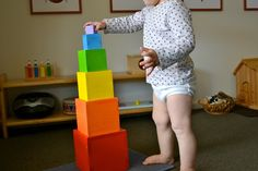 The Coloured Tower - our toddler version of the Montessori Pink Tower