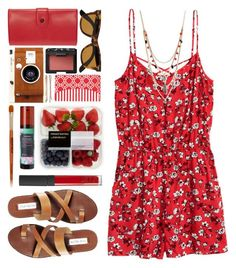 #906 Gina by blueberrylexie on Polyvore featuring moda, Steve Madden, Opening Ceremony, Betsey Johnson, Ray-Ban, Madewell, NARS Cosmetics, Mineral Fusion, Korres and LØMO