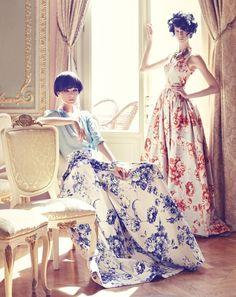 Posh, Asian, vintage, so inspired. Beautiful women in a fabulously designed summer-bathed apartment / Barbora Sindleryova & Maryia Rehilevich by Koray Parlak