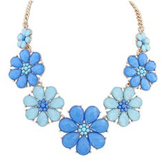 COLORFUL PASTORAL STYLE SWEET FLOWER WOMEN'S NECKLACE