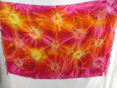 pink red yellow star burst tie dye sarong heppy apparel summer fashion $5.25 - http://www.wholesalesarong.com/blog/pink-red-yellow-star-burst-tie-dye-sarong-heppy-apparel-summer-fashion-5-25/