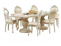 "Camelgroup Leonardo Dining Table - Leonardo Dining Table  w/18"" Extension. Dimensions: 73""x 42""x 31""."