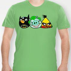 Angry Birds as Batman Joker and Robin T-shirt by Olechka -  18.00 Zip Up 9442db7a1cf