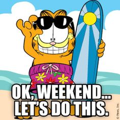 GARFIELD.- OK WEEKEND LETS DO THIS!