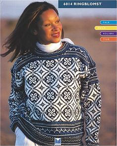 Ravelry: 6014 Ringblomst pattern by Dale Design Fair Isle Knitting Patterns, Fair Isle Pattern, Knit Patterns, Vintage Patterns, Stitch Patterns, Loom Knitting, Free Knitting, Vintage Knitting, Knit Crochet