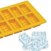 Lego ice tray, how cool (excuse the pun - lol) Another idea is to make Lego ice-cream blocks and serve them with a sprinkle of 100's & 1000's or choc sauce, or both.