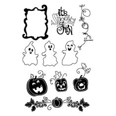 Sizzix Clear Stamps - Spooky Fun $14.99