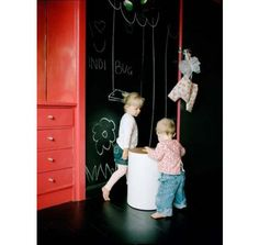 http://www.houzz.com/ideabooks/48210/list/Decorating-Kid-s-Rooms-With-Chalkboard-Paint