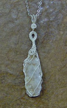Quartz cluster pendant by 5DogsDesigns on Etsy, $14.00