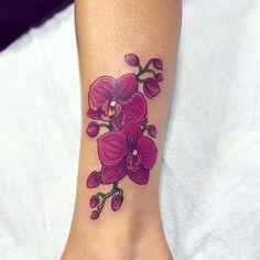 Melissa's first tattoo! You did so great :) #tattoo #tattoos #tattooed #tattooart #tattooartist #orchidtattoo #orchids #orchid #flowertattoo #colortattoo #draw #drawing #art #artwork #flowers #yegtattoo #blackgoldtattoo