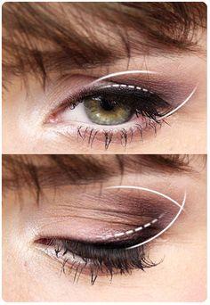 Alina Rose Makeup Blog: Metamorfozy Czytelniczek- makijaż Ewy, oczy zielone, opadająca powieka.