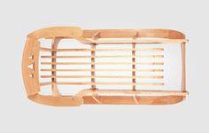 Настоящие деревянные санки