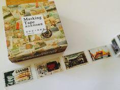 World Postage Stamp Boxed Washi Tape by GoatGirlMH on Etsy