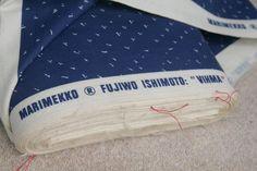 Vintage Marimekko Vihma Fabric M18 Fujiwo Ishimoto 1979 Suomi Finland per Metre