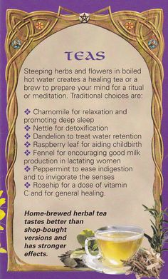 See the source image Magic Herbs, Herbal Magic, Healing Herbs, Natural Healing, Natural Medicine, Herbal Medicine, Wiccan Spell Book, Kitchen Witchery, Tea Blends