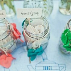 You've heard about a coffee bar; what about a tea station? I always think its important to add personal touches to weddings..and I know you love tea! You could DIY it by adding hearts to the tea bags in multi colors places in mason jars.