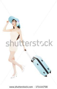 Pulling Suitcase Stock Photos, Pulling Suitcase Stock Photography, Pulling Suitcase Stock Images : Shutterstock.com