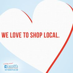 We love to shop local, do you?