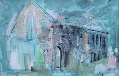 Ink & watercolour, 23 x 15 in Urban Landscape, Abstract Landscape, Famous Artists, British Artists, Just Ink, John Piper, 12th Century, Green Man, Paisajes
