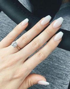 45 trendy wedding nails ideas bridal manicure french tips Bling Wedding Nails, Winter Wedding Nails, Natural Wedding Nails, Simple Wedding Nails, Wedding Nails For Bride, Bride Nails, Wedding Nails Design, Trendy Wedding, Simple Nails