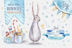 Watercolor Christmas collection by Peace ART on @creativemarket