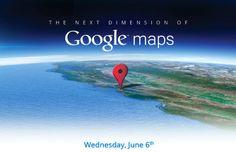 Google lancera ses cartes 3D avant Apple