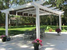 7 Victorious Tips: Terrace Canopy Beautiful garden canopy design. Pergola Metal, Vinyl Pergola, Pergola Carport, Retractable Pergola, Backyard Canopy, Garden Canopy, Pergola Canopy, Pergola With Roof, Canopy Outdoor