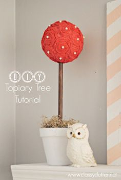 DIY Topiary Tree Tutorial