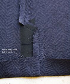 pattern ~ scissors ~ cloth: ~tricks of the trade: jacket sleeve vents~