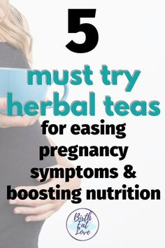 You have to try these 5 herbal teas during pregnancy. They can help ease pregnancy symptoms and aliments like morning sickness and prepare your body for child birth. An easy way to get extra nutrition during pregnancy. Pregnancy First, Pregnancy Early Healthy Pregnancy Diet, Pregnancy Nutrition, Pregnancy Health, Pregnancy Workout, Pregnancy Facts, Happy Pregnancy, Pregnancy Tips, Pregnancy Side Effects, Pregnant Diet