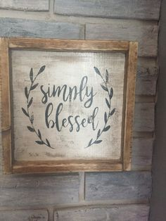 Simply Blessed Sign Farmhouse Rustic Faith Home Decor