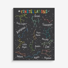 With an effortless modern style, Lucy Darling offers a high-quality constellations wall art print designed to help celebrate the darling moments of a baby's lif